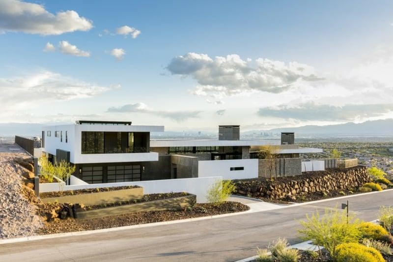 Flachdachhaus Nevada eindrucksvolle Fassade