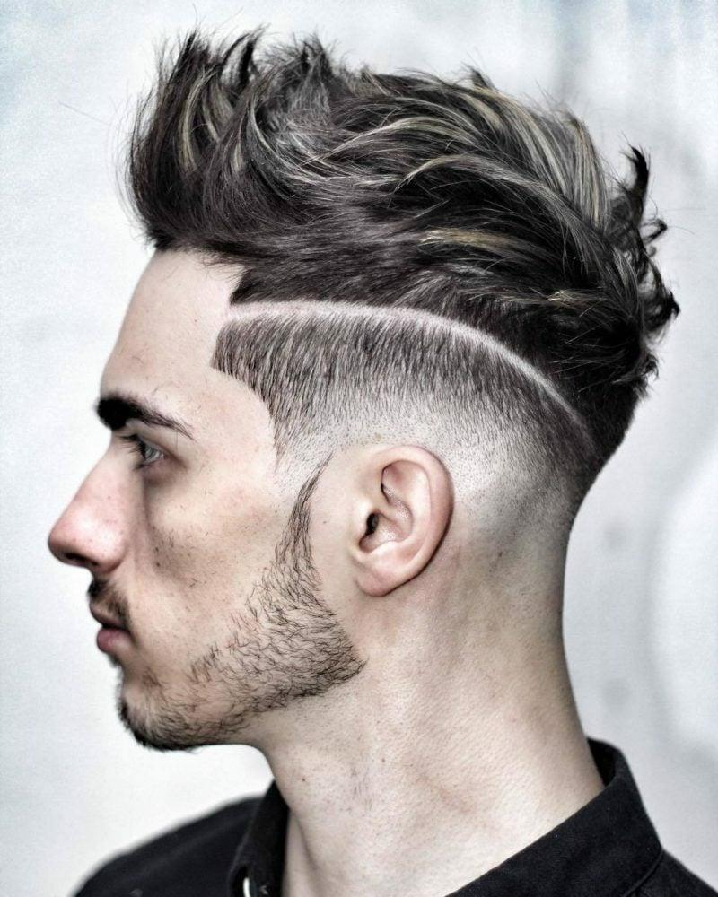 Undercut mit Übergang mittellange Frisuren Männer