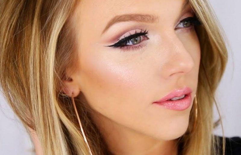 Make up modern effektvoll blaue Augen