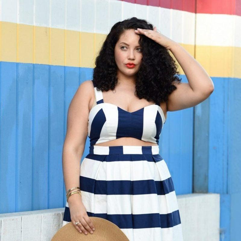 Mode für mollige Frauen hilfreiche Styling-Tipps Sommer