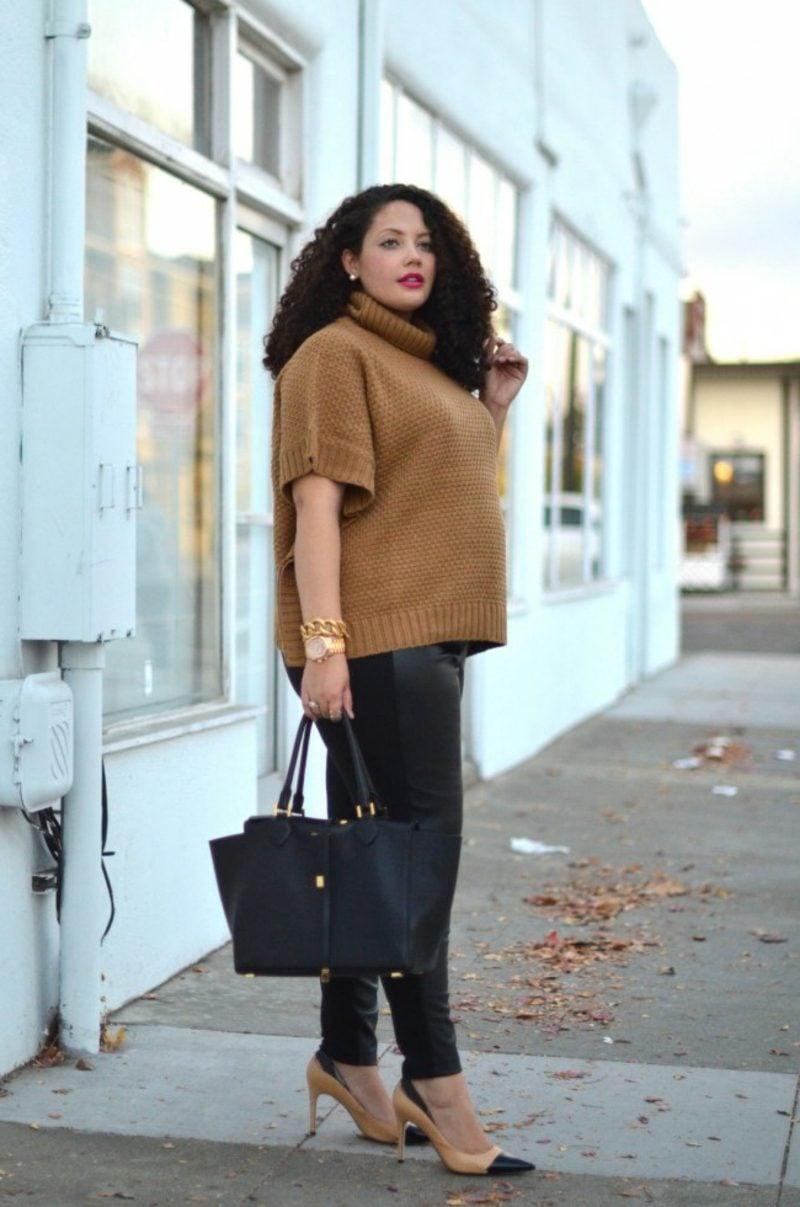 festliche Mode für Mollige eleganter Winteroutfit