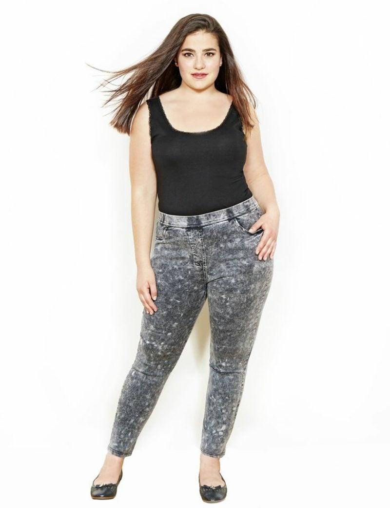 Mode für Mollige originelle Jeanshose