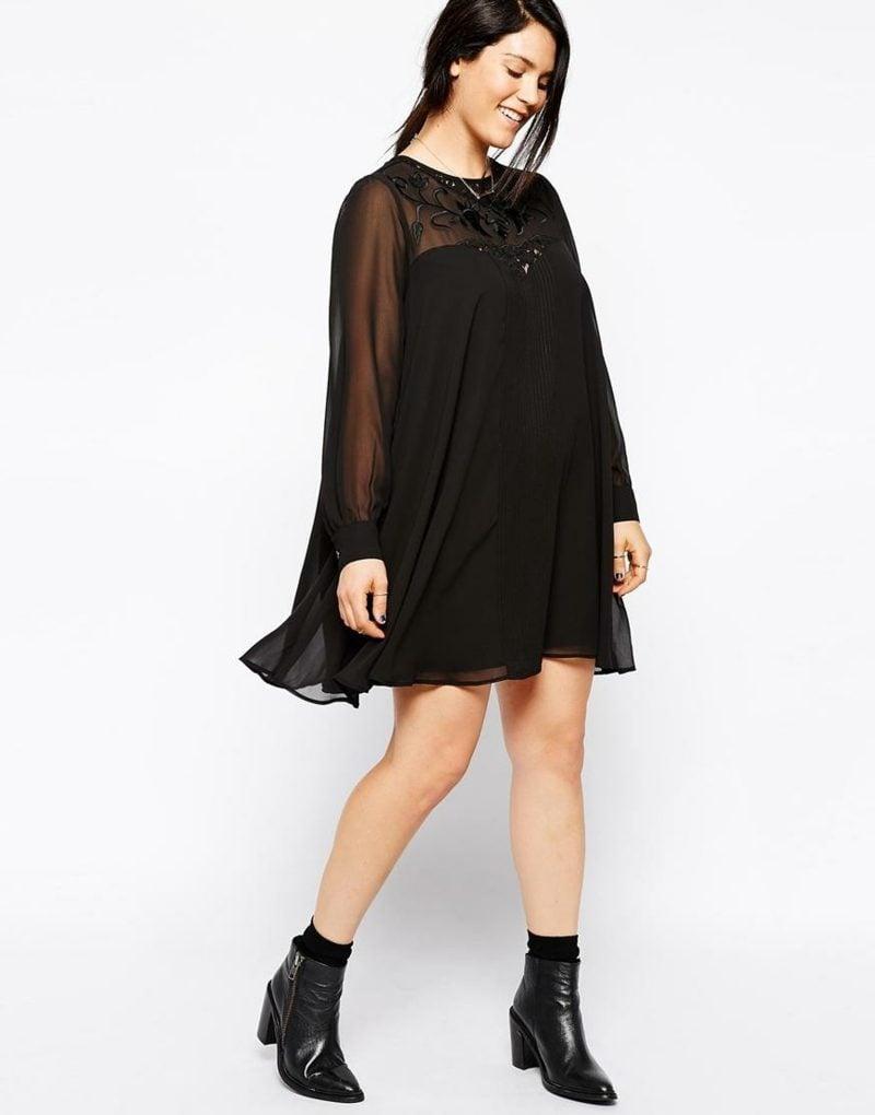 Schwarze kleider fur dicke