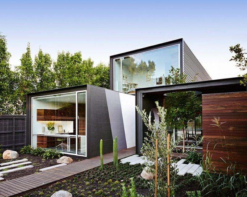 Satteldach modern Modulbau Haus Australien