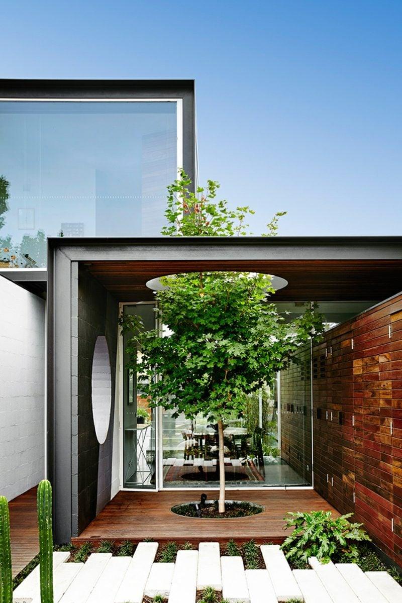 schöne Häuser Flachdachhaus in Australien