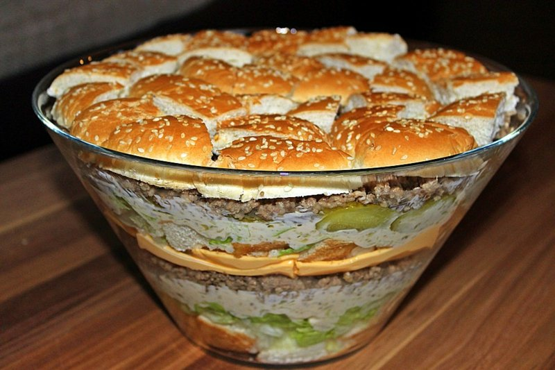 Kalorien Salat Big Mac Party Food