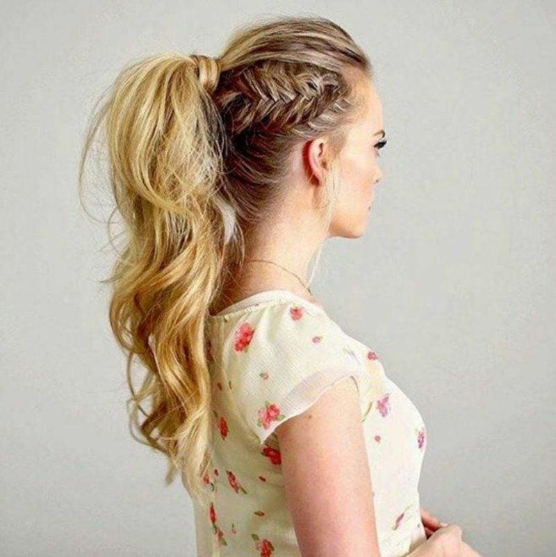 Flechtfrisuren einfach Frisuren halblanges Haar
