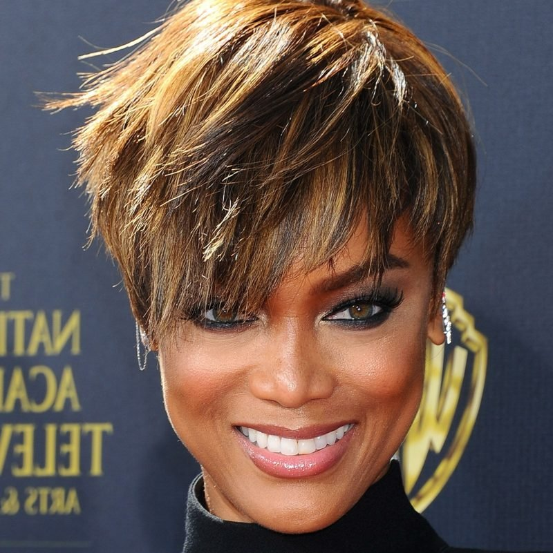 freche Kurzhaarfrisuren Undercut Pixie Cut Tyra Banks