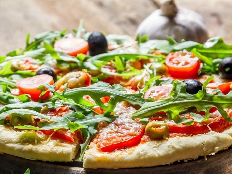 Lidl vegane Pizza Tomaten Kresse Oliven