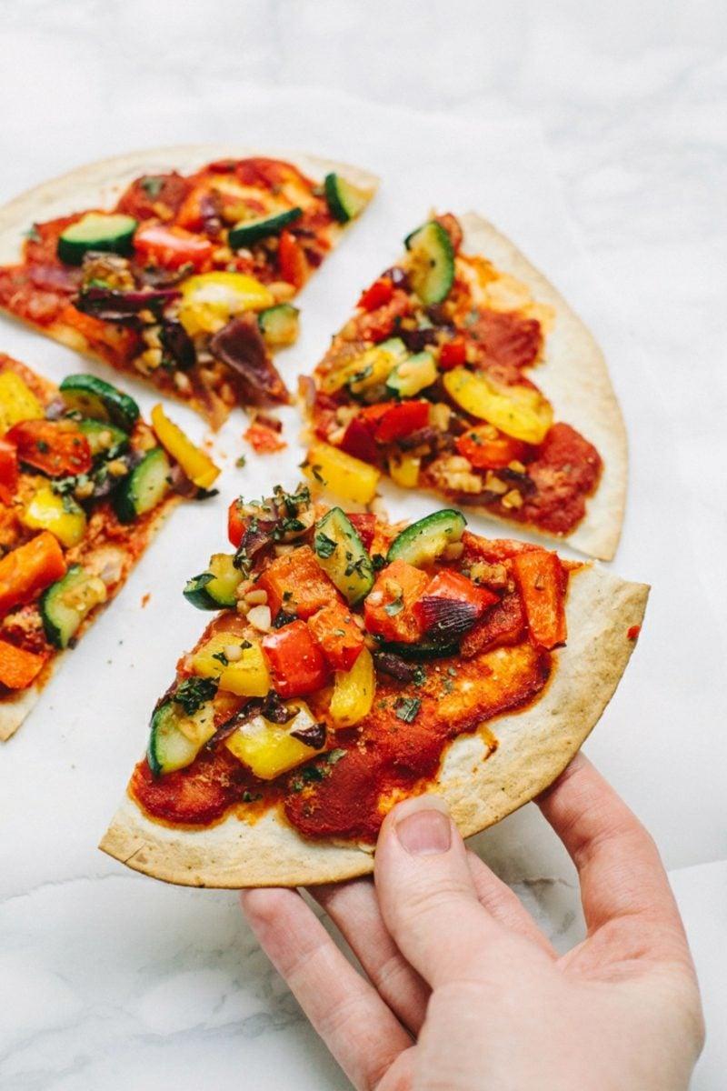 Pizza selber machen vegan wie geht es