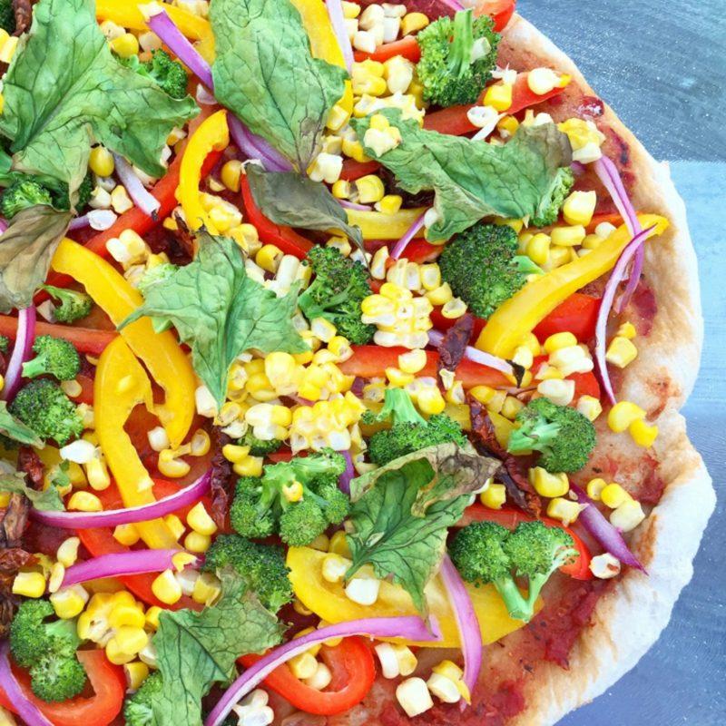 vaganer Pizza Belag Mais Broccoli Paprika