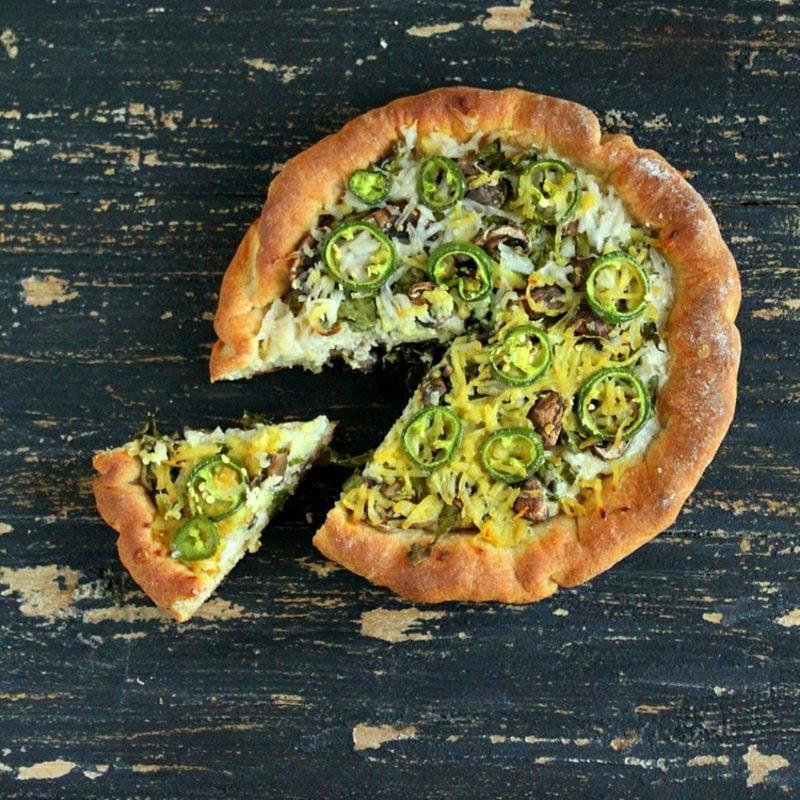 Pizzaschnecken vegetarisch mexikanischer Belag