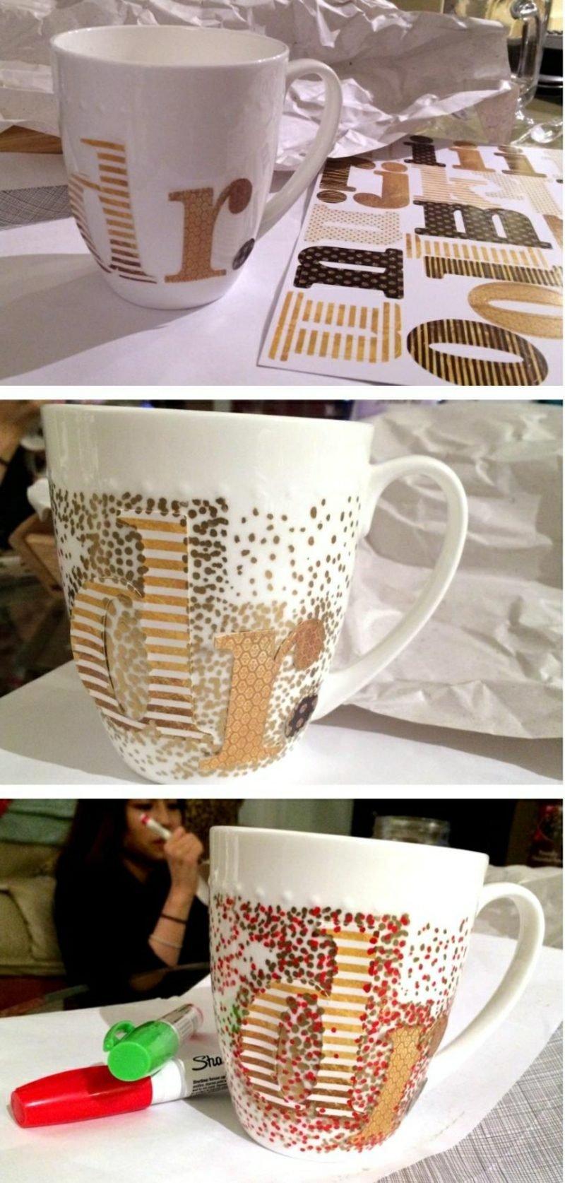 Tasse selber gestalten herrliche Geschenkidee