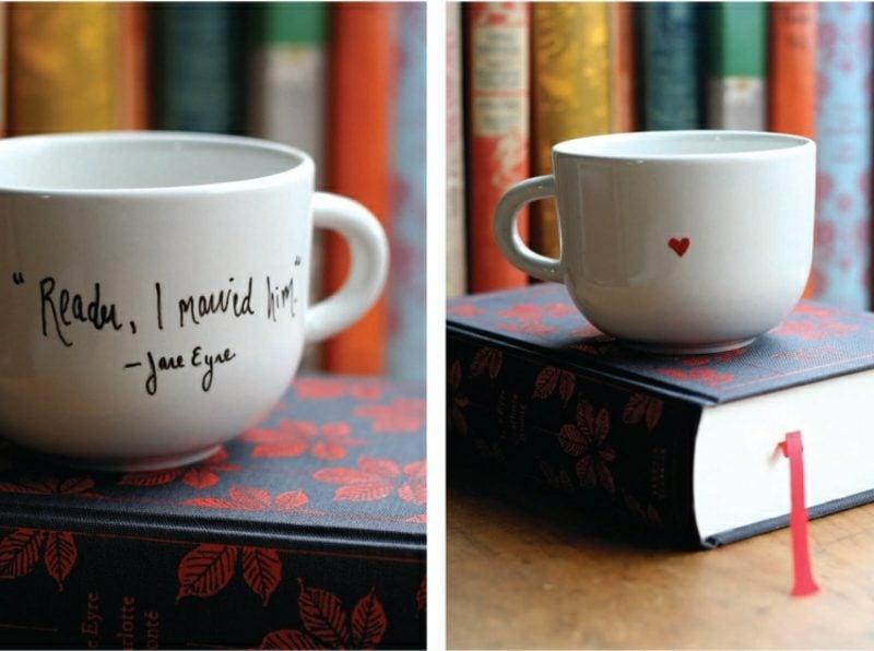 schöne Tassen Porzellan bemalen
