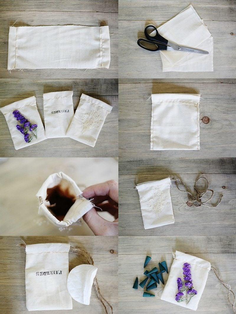 Raumduft selber machen Duftsäckchen mit Lavendel