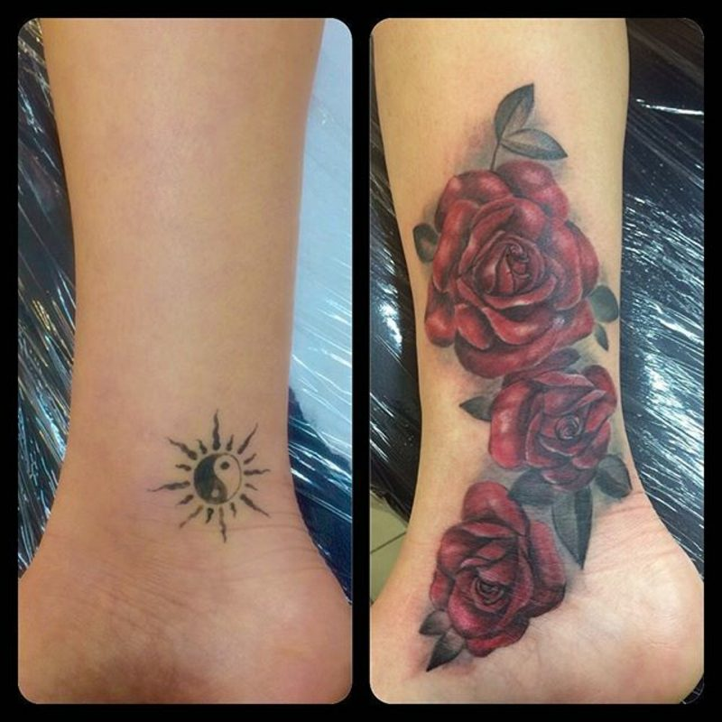 Cover up Tattoo eindrucksvoll Frau