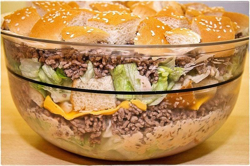 Big Mac Rezepte leckerer Salat