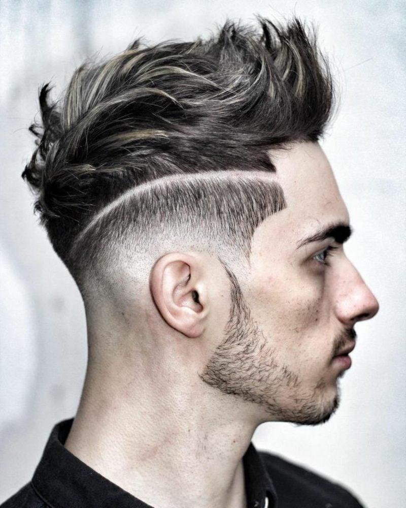 Frisuren lang Sidecut Männer