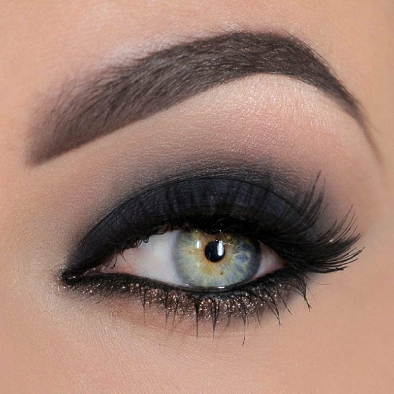 Make up blaue Augenfarbe Schminktechniken