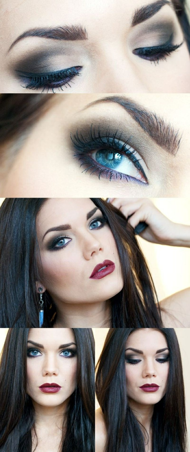 Make up professionell blaue Augenfarbe