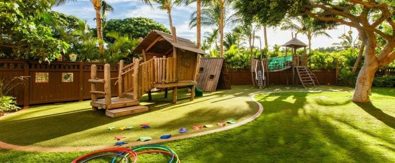 Spielecke planen Garten hilfreiche Tipps den Kindern Freude machen