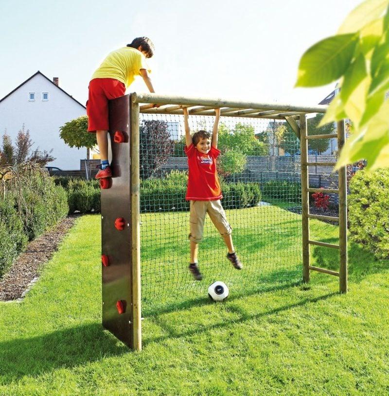 Klettergerüst aus Holz stabil hoch Garten