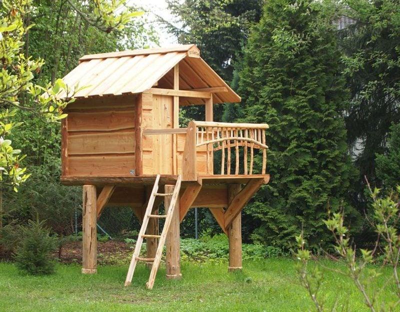 Spielhaus aus Holz hoch Kinder