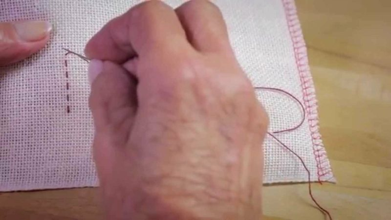 Sticken lernen Steppstich selber machen