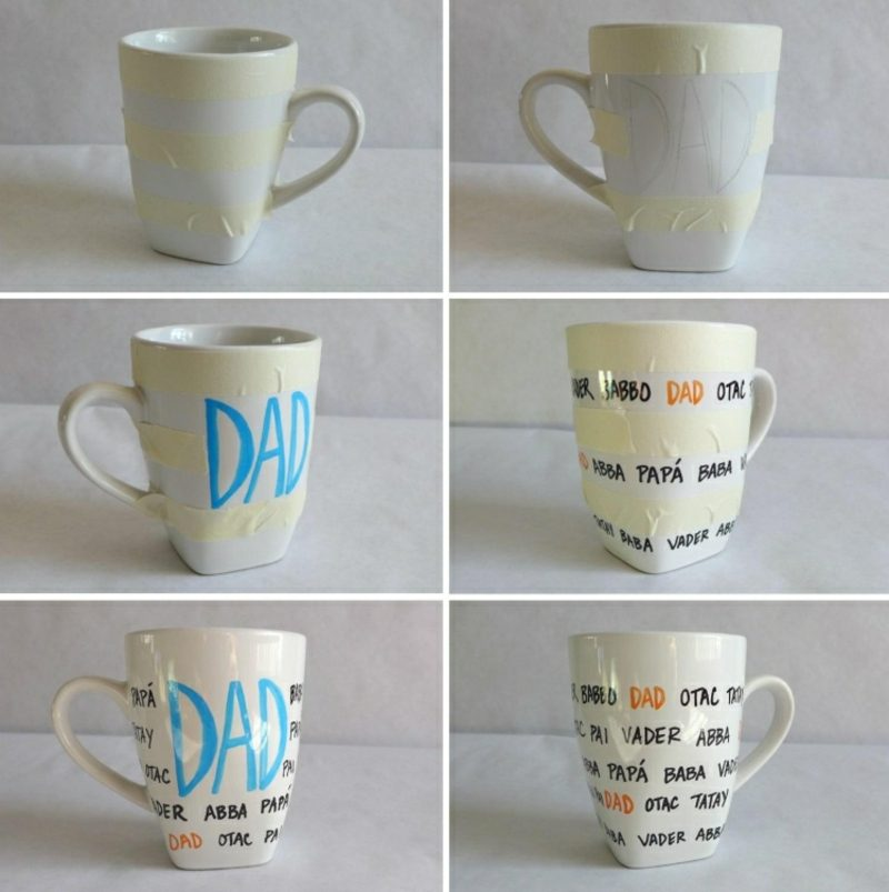 Tassen selbst bedrucken DIY Ideen