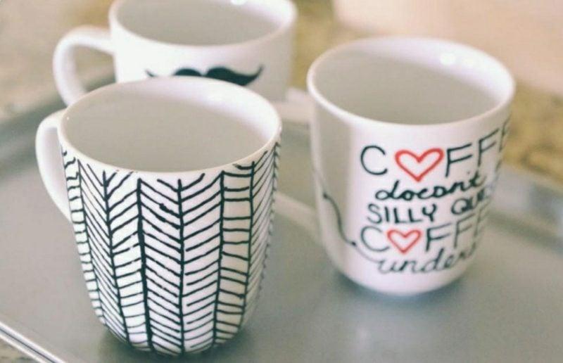 Tasse selbst gestalten originelle Designideen