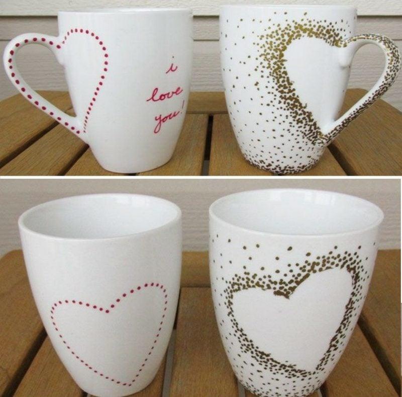 Tasse selber gestalten Herz herrliches Design