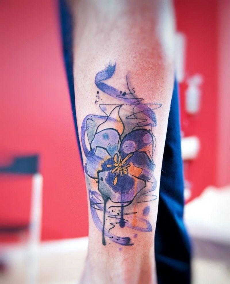 Watercolor Tattoos Ideen für Frauen