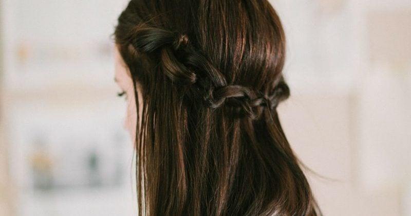 Frisuren offene Haare Twisted Crown