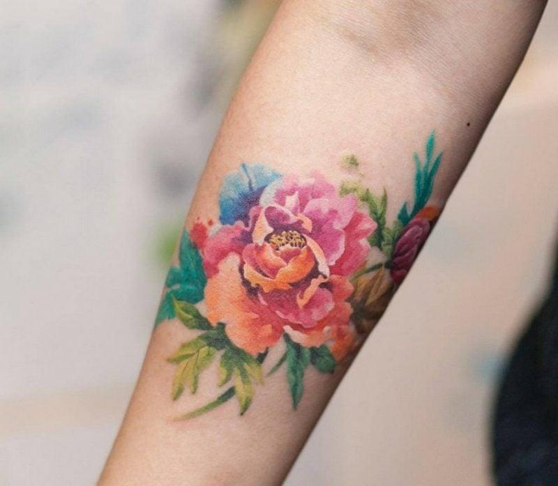 Watercolor Tattoo Haltbarkeit