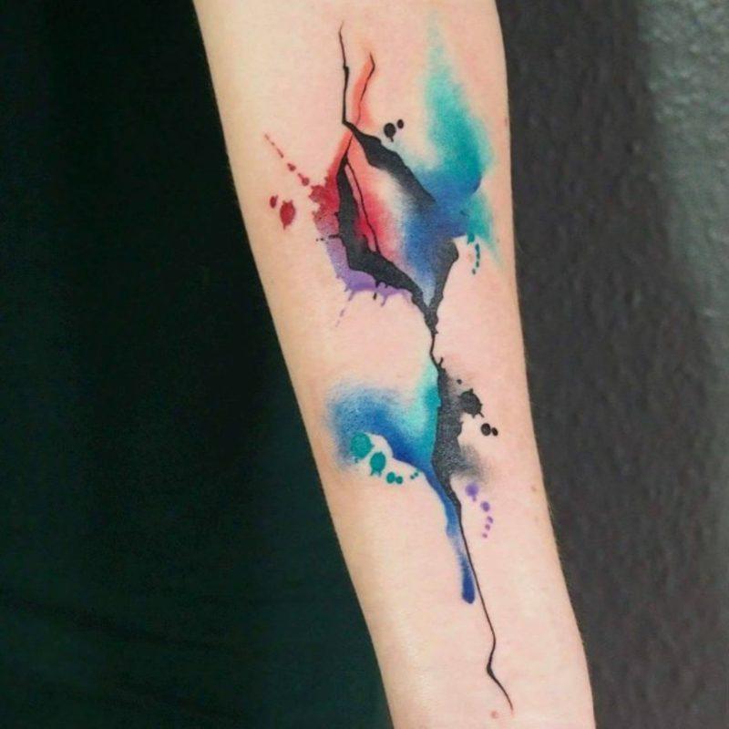 Watercolor Tattoos eindrucksvolle Designideen