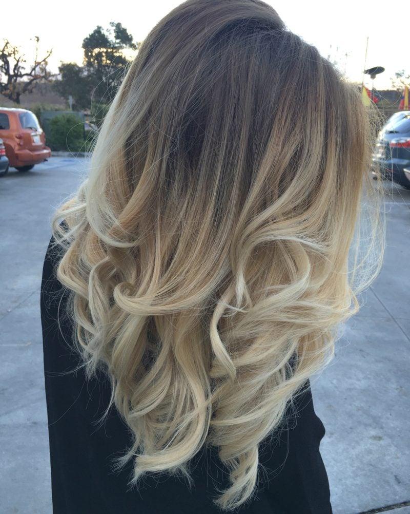 Balayage Blond - Nicht nur blonde Strähnen, sondern Ombre Look