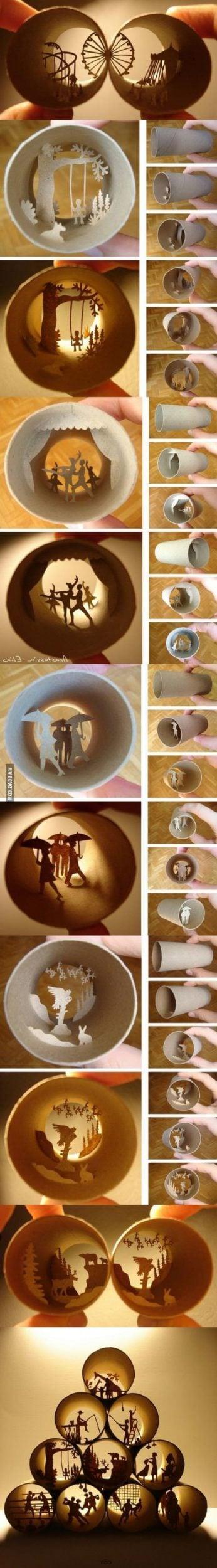 DIY Dekoration mit Papprollen