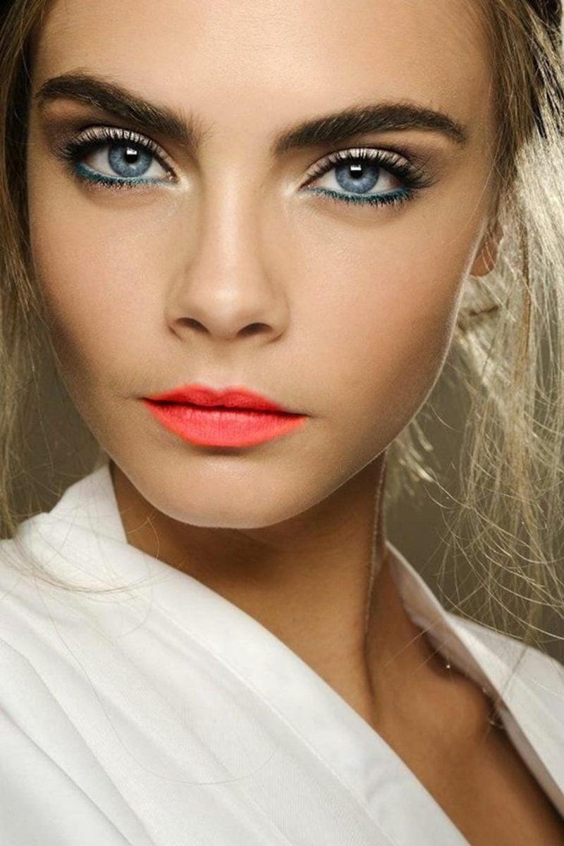 blaue Augen besser zur Geltung bringen Make up