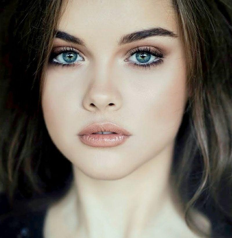 Schminktechniken blaue Augen