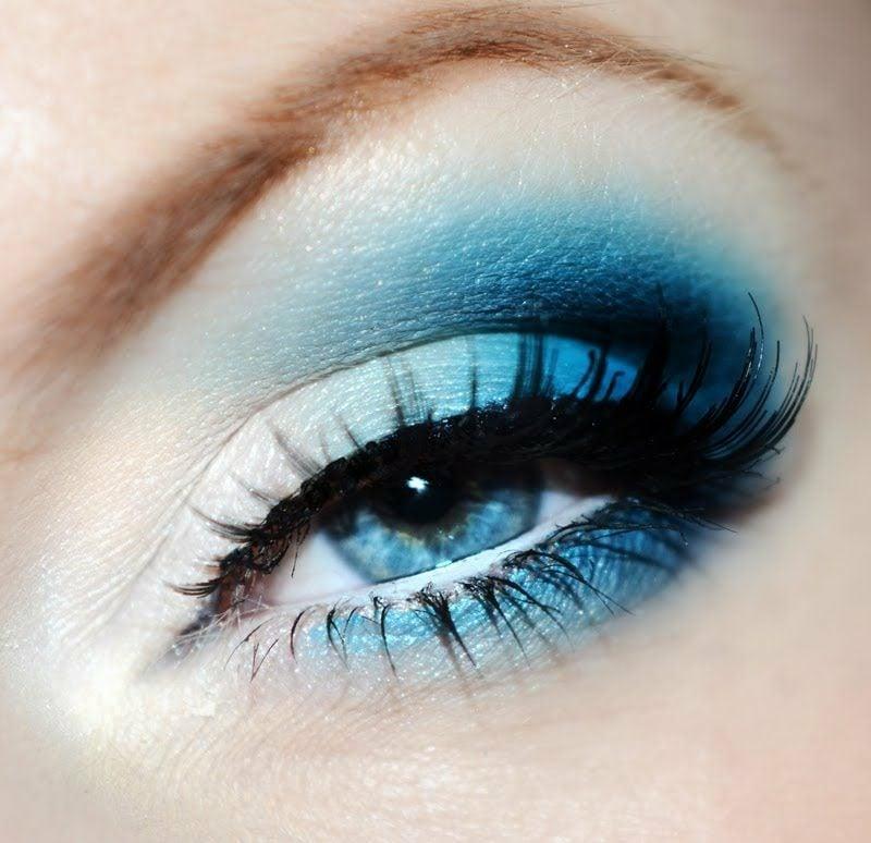 tolle Schminktipps für blaue Augen