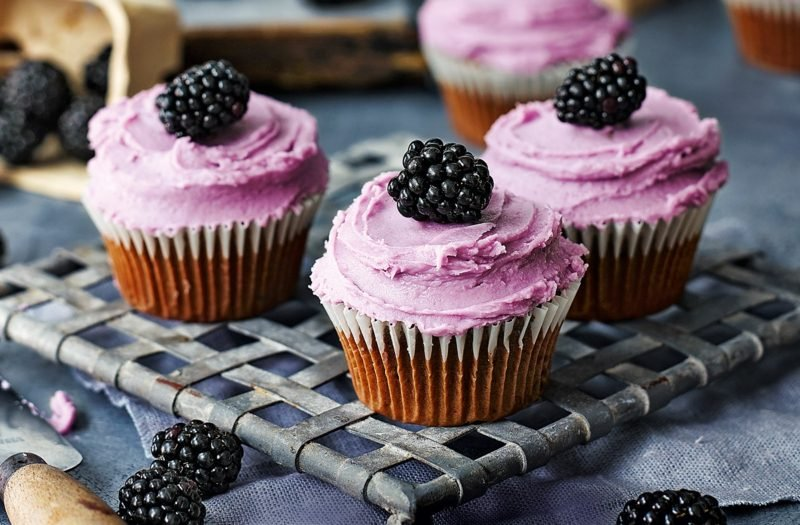 brombeer cupcakes topping