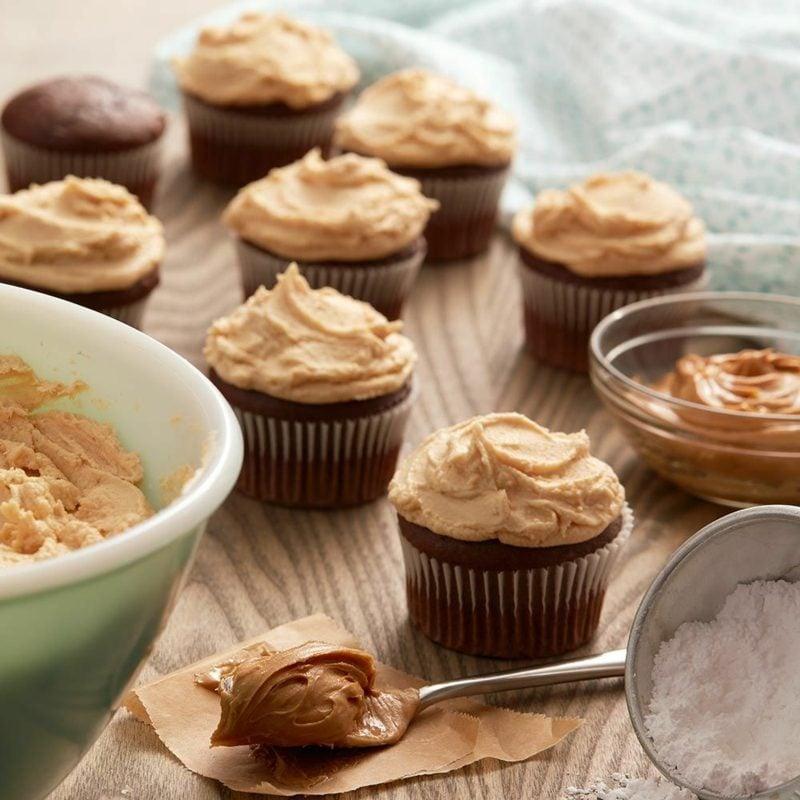 karamell topping schoko cupcakes