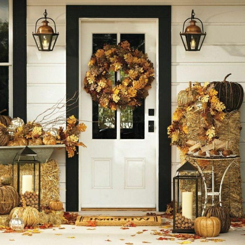 Herbstdeko für den Hauseingang selber basteln