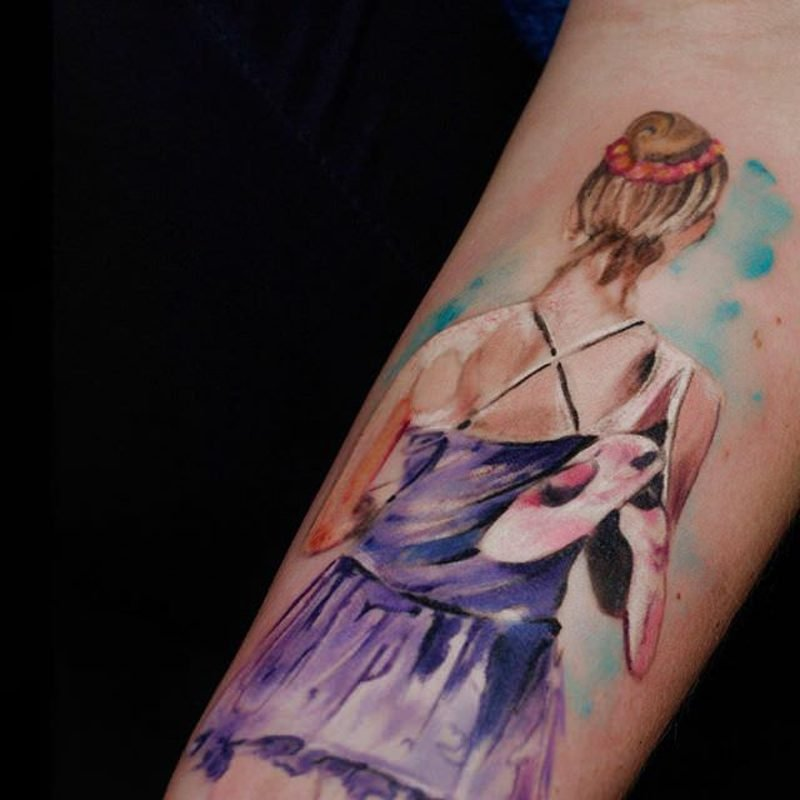 Watercolor Tattoo eindrucksvolle Designideen