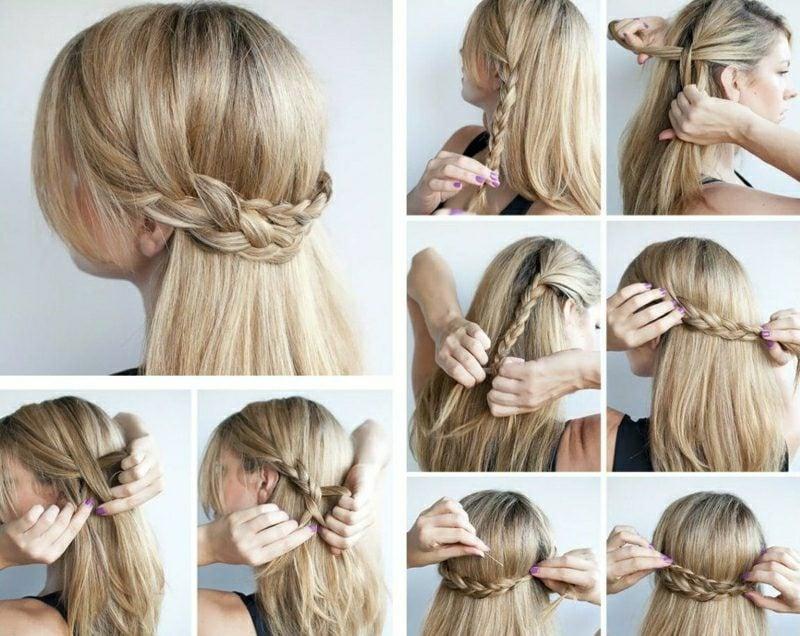 elegante Frisuren Frisuren halblanges Haar