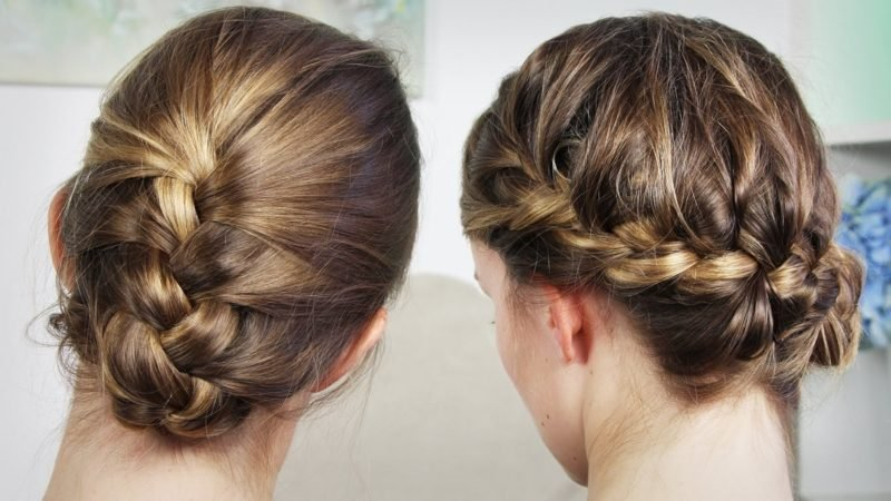 Frisuren mittellang hochgesteckt geflochten