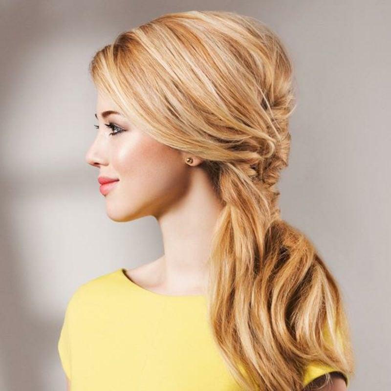 Frisuren für schulterlanges Haar schnelle Hochsteckfrisuren