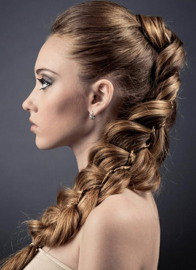 schöne Frisuren geflochten