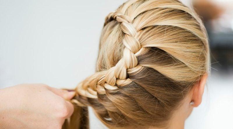 Frauen Frisuren eindrucksvolle Flechtfrisur