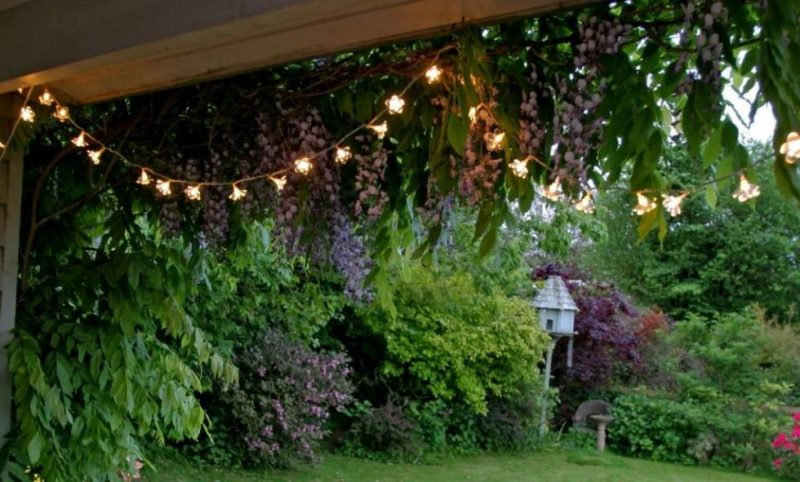 Garten Ideen für Beleuchtung - billige Lampen